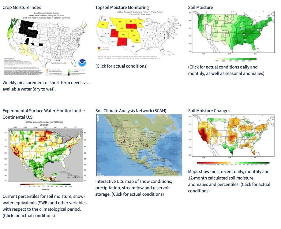Climate Signals US Soil Mositure - Us soil moisture map