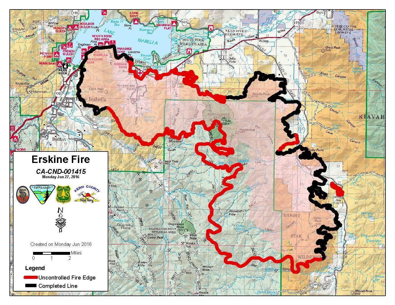 Climate Signals Map Erskine Fire Perimeter 6 27 2016