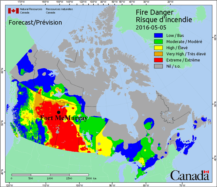 Climate Signals | Fire Weather Map: May 5, 2016 on