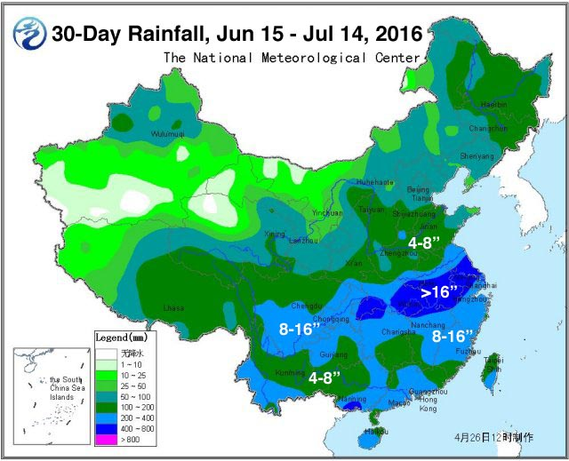 Climate Signals Map Day Rainfall June July - Map of 2016 us rainfall amounts