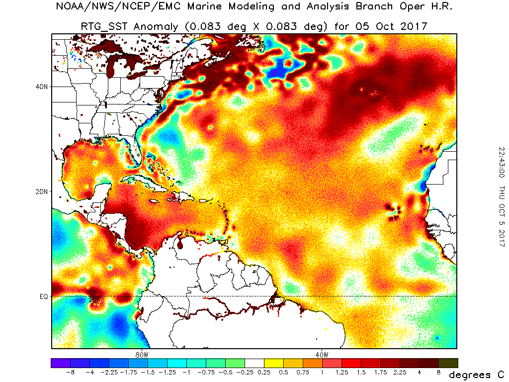 Climate Signals Map Atlantic Sea Surface Temperature Anomaly