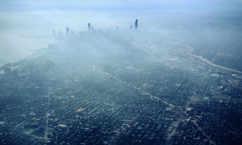 In July 1995, a deadly hot air mass settled over Chicago, killing more than 700 residents. By mid-century, Chicago likely will suffer similar heat waves every summer unless we dramatically reduce global warming emissions. Photo: Gary Braasch