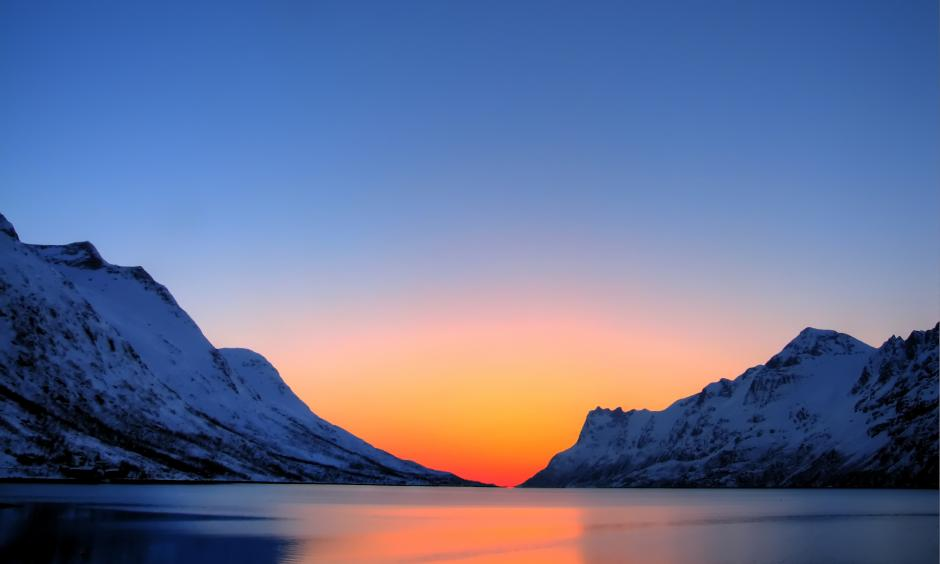 Arctic Sunset taken in Tromsø Kommune, Troms Fylke. Photo: P J Hansen