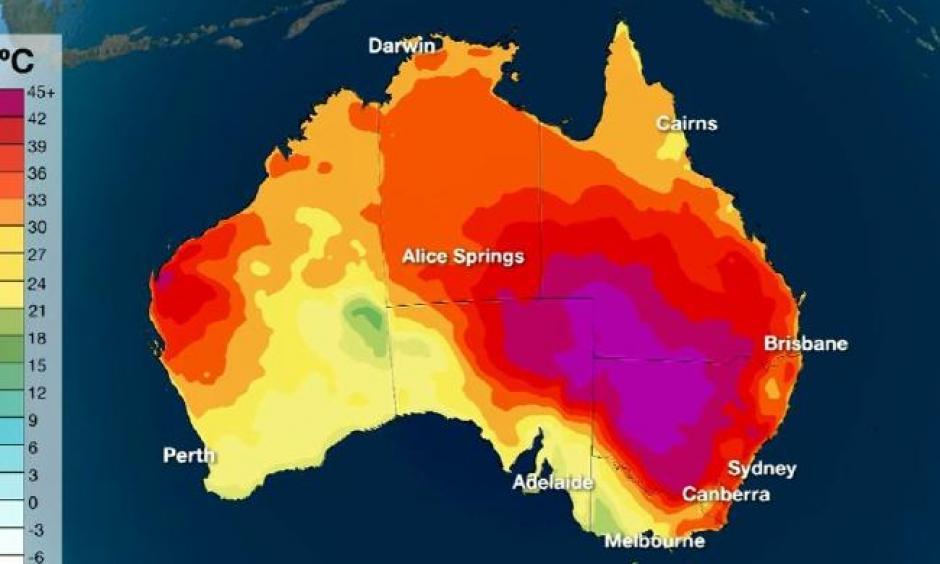 Map Of Australia 2017.Climate Signals Australia Record Heat 2017