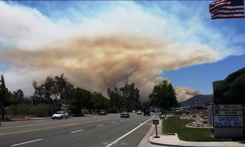Telecula Fire. Photo: Paula Sato