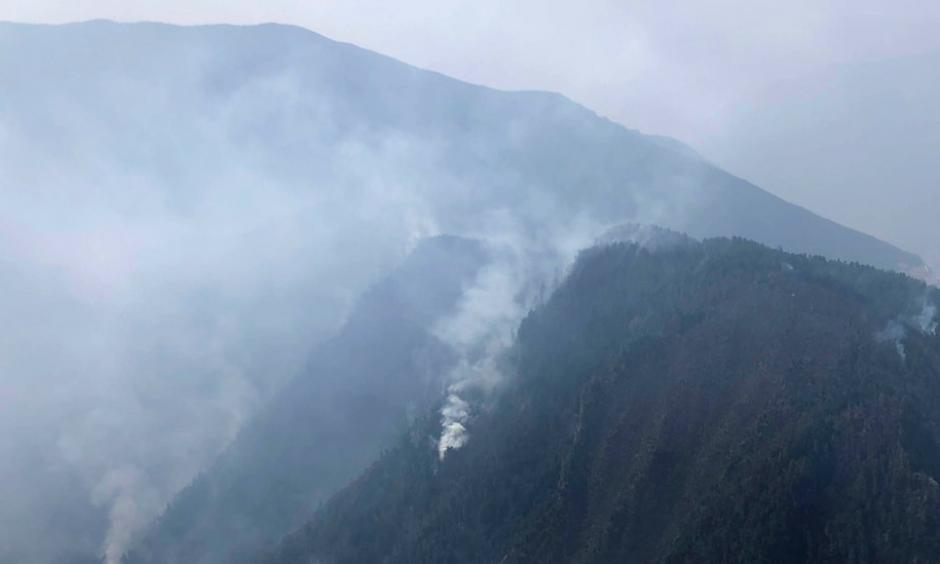 Smoke from a forest fire in Liangshan Yi Autonomous Prefecture in Sichuan Province, China, on Monday. Photo: Xinhua via Associated Press
