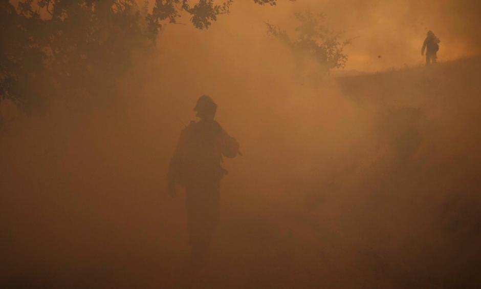 Firefighters battled the Kincade fire in Geyserville, Calif., last week.Credit: Eric Thayer/New York Times