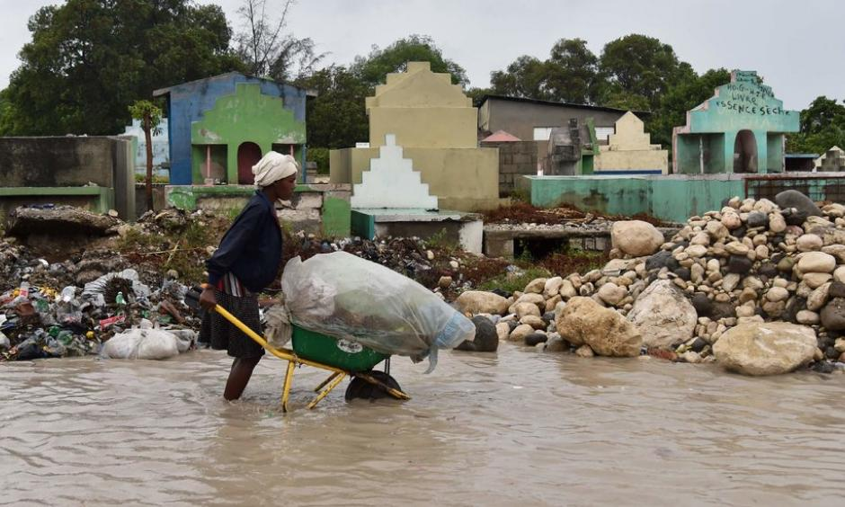 Streets were flooded in Port-au-Prince after Hurricane Matthew crashed ashore early Tuesday with 145 m.p.h. winds. Photo: Hector Retamal, Agence France-Presse