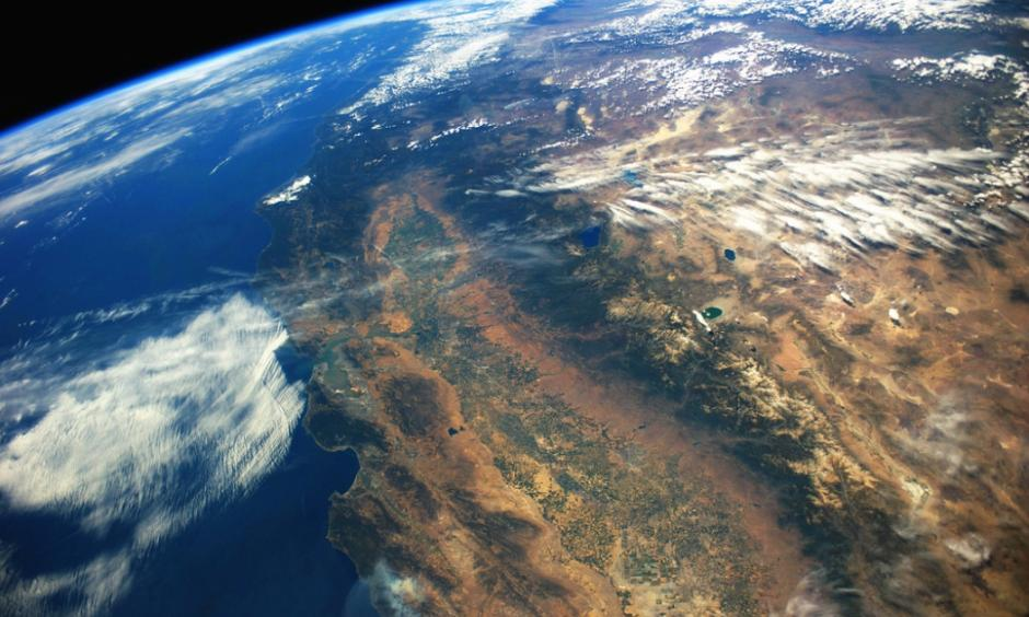 California's parched Central Valley in 2014. Photo: Stuart Rankin / NASA / flickr
