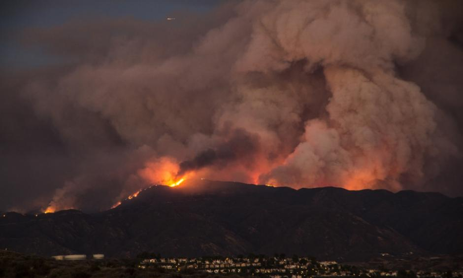 The Sand Fire burning in California's Santa Clarita Valley in July. Photo: Kevin Gill/flickr