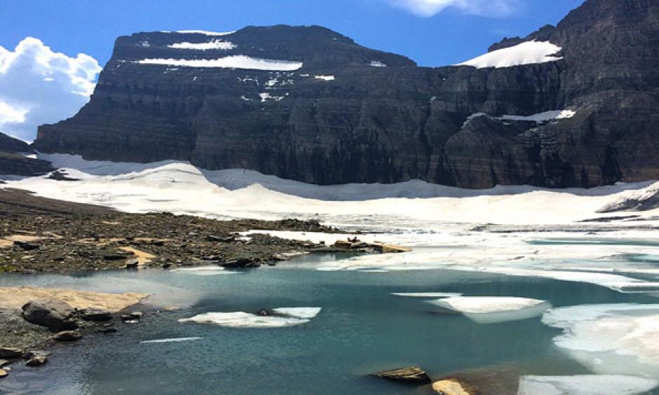 Glacier National Park's Grinnell Glacier. Photo: Jeff Wegand