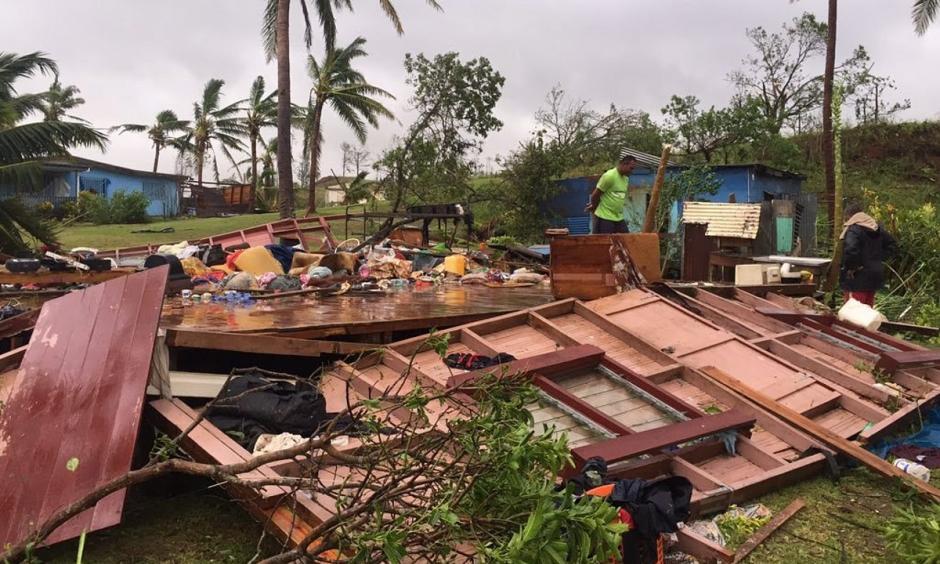 Scenes of Cyclone Winston's destruction in Ba, Fiji. Photo: Naziah Ali, EPA