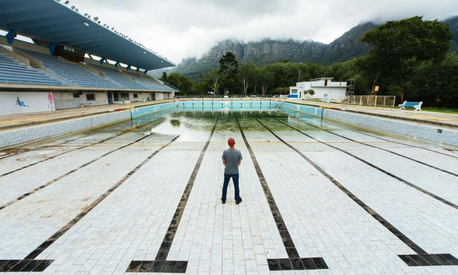The Newlands municipal swimming pool in Cape Town has been shut. Photo: Waldo Swiegers, Bloomberg
