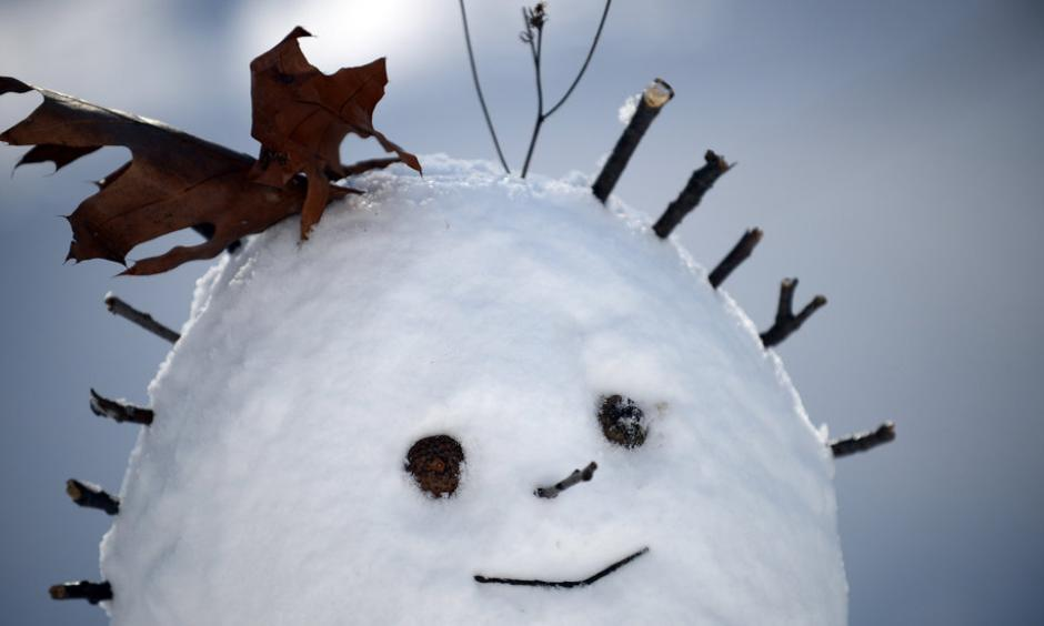 This could be you if you venture outdoors on Saturday. Minus the smile. Photo: Astrid Riecken, Getty Images