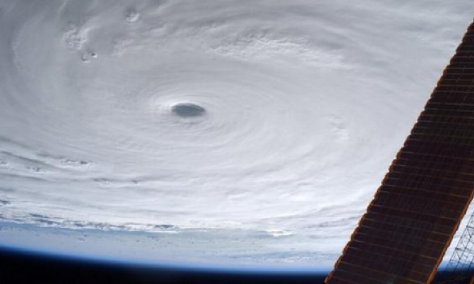 Japanese astronaut Kimiya Yui snapped this image of Super Typhoon Soudelor from the International Space Station. Photo: Via Twitter