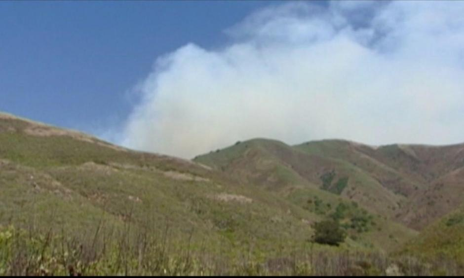 The smoke from the Soberanes Fire burning in Monterey County is drifting northward and has created a blanket of haze over San Jose and the greater South Bay. Photo: KGO-TV