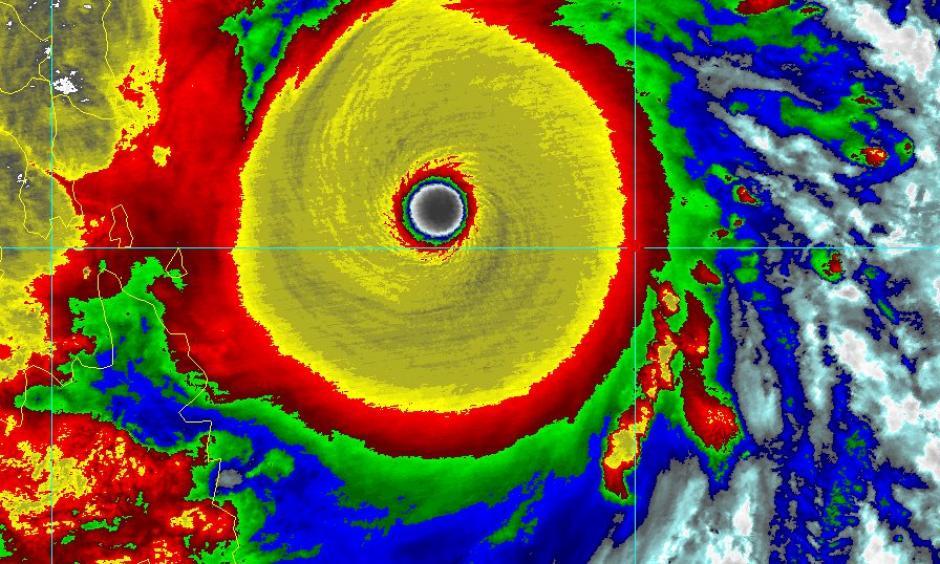 Satellite view of Typhoon Haiyan. Image: Colorado State