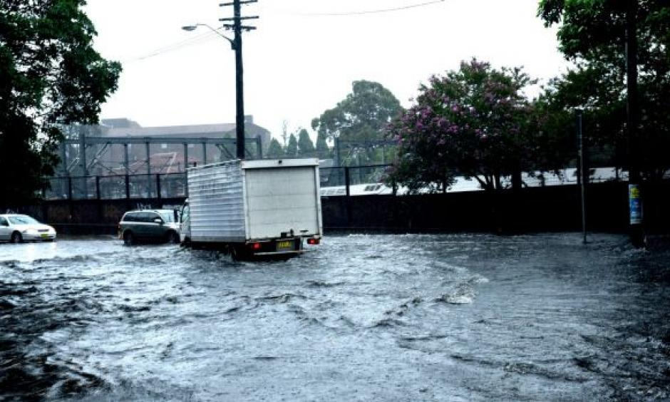 Scenes around Petersham from the storm that hit on Tuesday. Photo: Steven Siewert