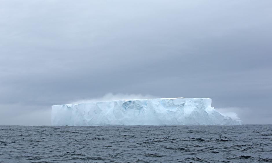 Iceberg in the Southern Ocean, where deep ocean waters are seeing rising temperatures and a trend toward lower salinity values. Photo: Freedive Antarctica/Barcroft Media via Getty Images