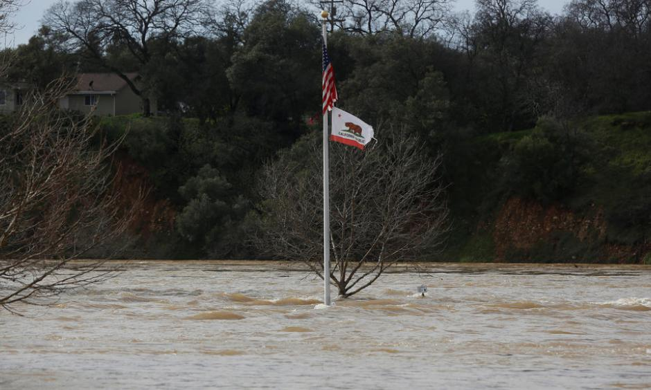 Riverbend Park in Oroville, Calif., which has seen extremely heavy rains and is threatened by damage to a dam. Photo: Jim Urquhart, Reuters