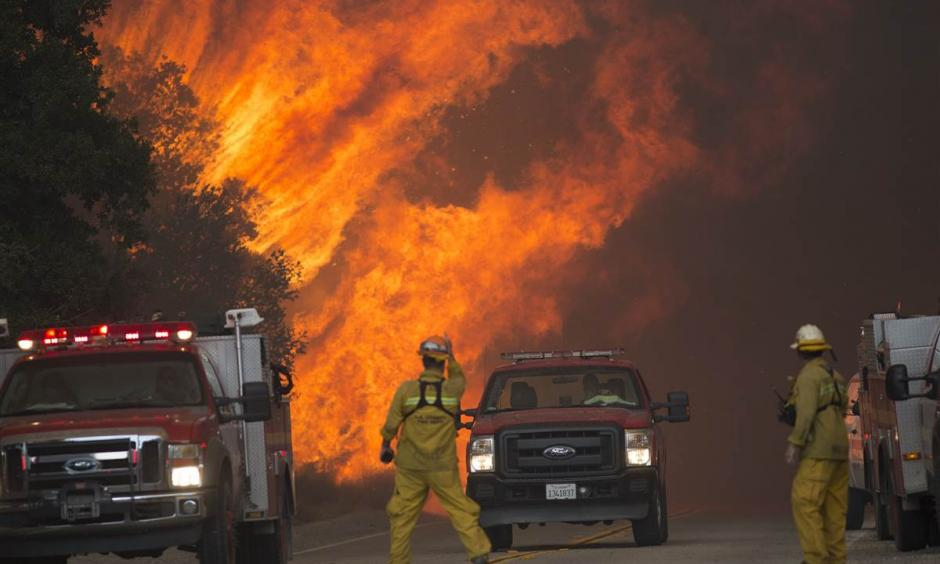 California wildfire: Body found as blaze nearly triples in size. Photo: RMG News