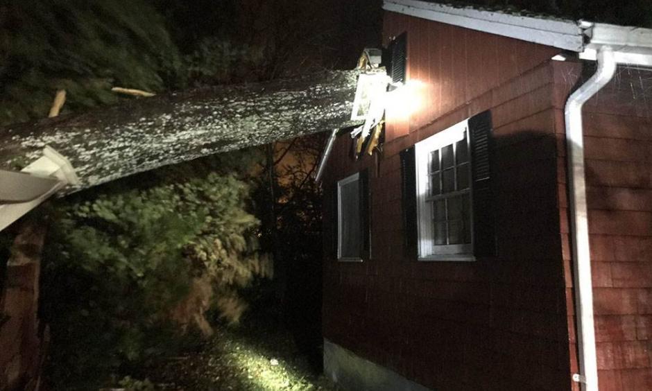 Storm damage in Halifax, Massachusetts. Photo: Halifax Fire Department