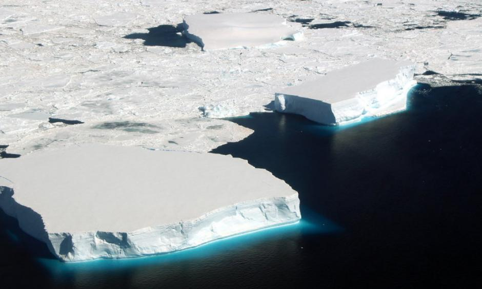 Icebergs in the northern Weddell Sea off Antarctica. Photo: John Sonntag, NASA