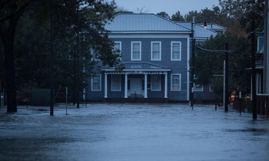 As the remnants of Hurrricane Florence push out of North Carolina, flooding remains a danger across the state, including in cities like Fayetteville. Photo: Victor J. Blue, New York Times
