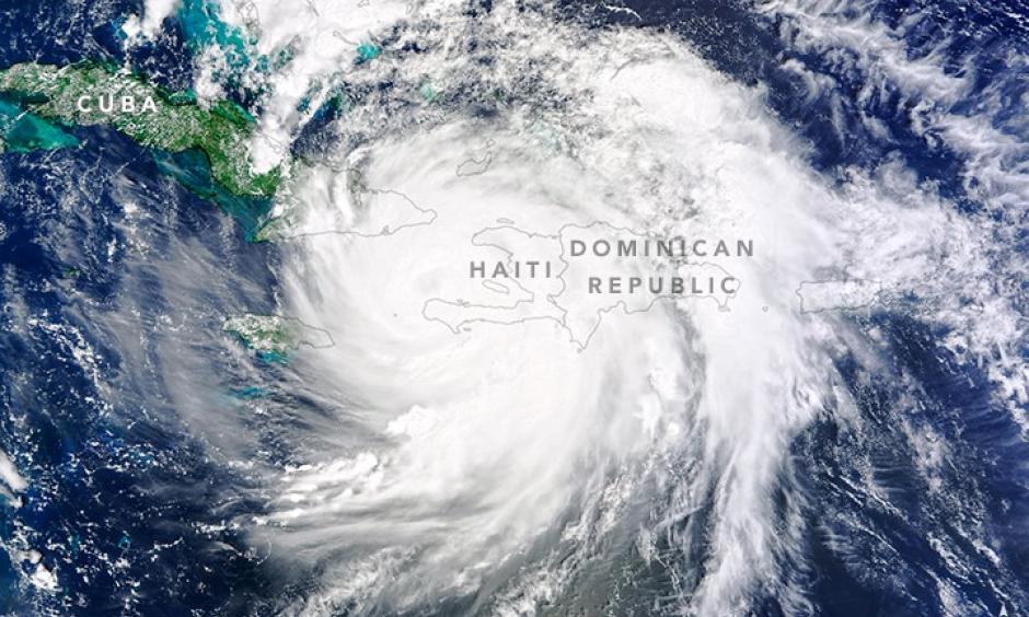 Hurricane Matthew, October 4. Image: NASA
