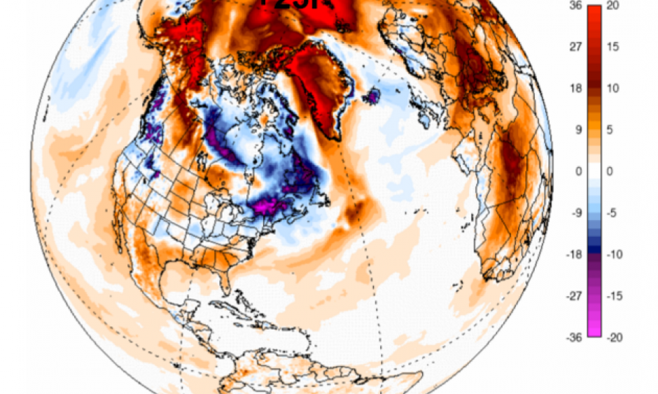 National Oceanic and Atmospheric Administration Global Forecast System data, via University of Maine