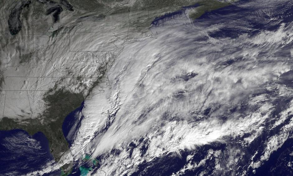 A major winter storm develops over the mid-Atlantic region. The heavier storms of recent years carried the imprints of climate change. Image: Getty