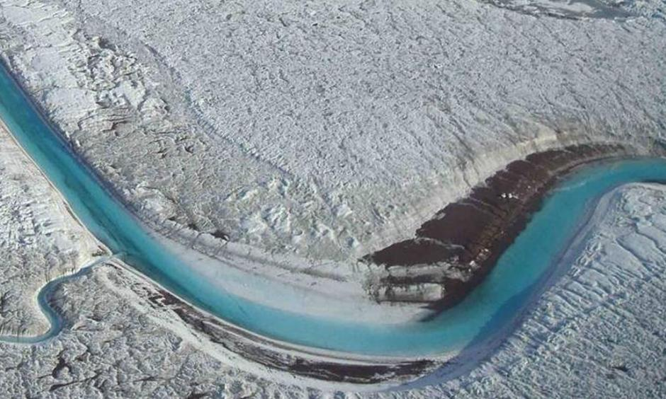 Melting glaciers from climate change
