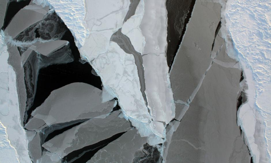 Arctic sea ice from a recent Operation IceBridge aerial survey. Photo: NASA