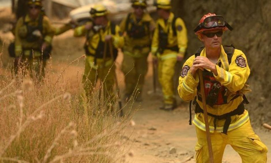 At its peak, more than 5,000 firefighters battled the Soberanes Fire in Big Sur this summer. Photo: David Royal – Monterey Herald