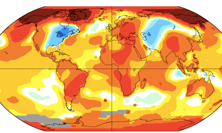 lobal temperature anamolies in November 2019. Credit: NASA