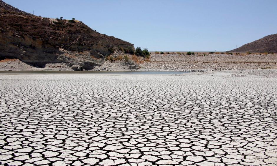 View from the virtually empty pit of Yermasoyia reservoir in southern Cyprus. Photo: Katia Christodoulou, EPA/Corbis