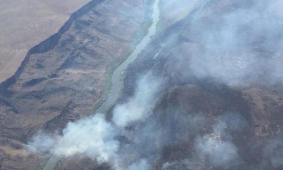 The Owyhee Canyon fire in Malheur County was reported June 5, 2016, and flared to almost double in size, an estimated 23,000 acres, the next day. Photo: inciweb