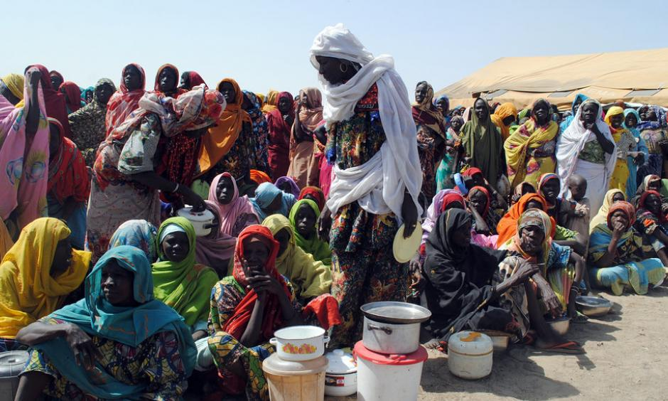 Nigerians displaced by Boko Haram insurgents last February at Dikwa camp in northeastern Nigeria. The United Nations raised the alarm on Wednesday about the risk of famine in northern Nigeria. Photo: Agence France-Presse, Getty Images