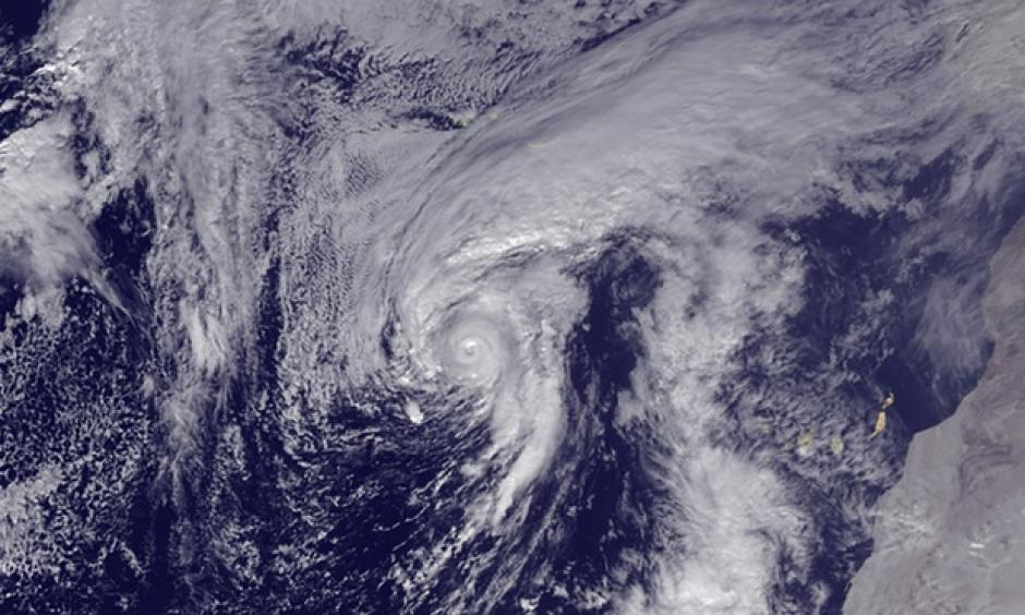 Hurricane Alex is seen in the Atlantic after being upgraded from a storm on Thursday. Photograph: Getty Images