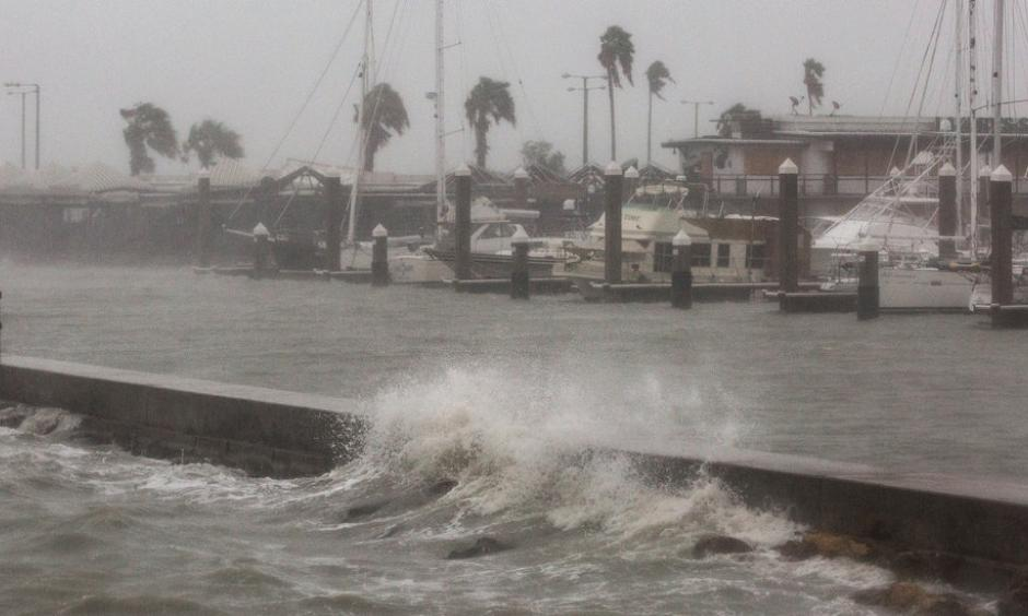 Strong winds in Corpus Christi, Tex., as Hurricane Harvey approached on Friday. Photo: Tamir Kalifa, The New York Times