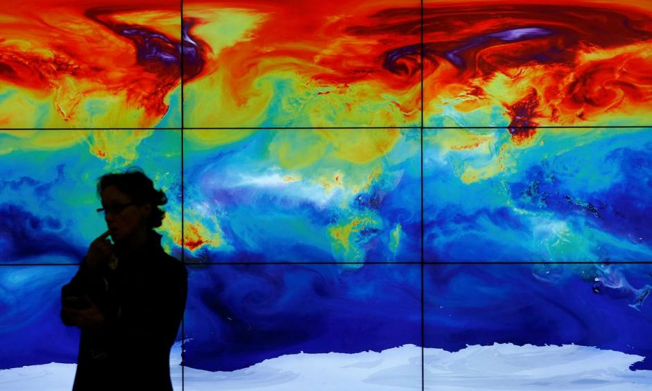 Global land and sea temperature was 1.11C warmer in April 2016 than the average temperature for April during the period 1951-1980. Photo: Stephane Mahe/Reuters