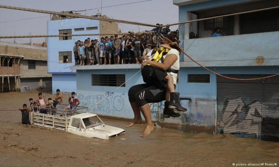 Rescue operations in Lima. Photo: AP