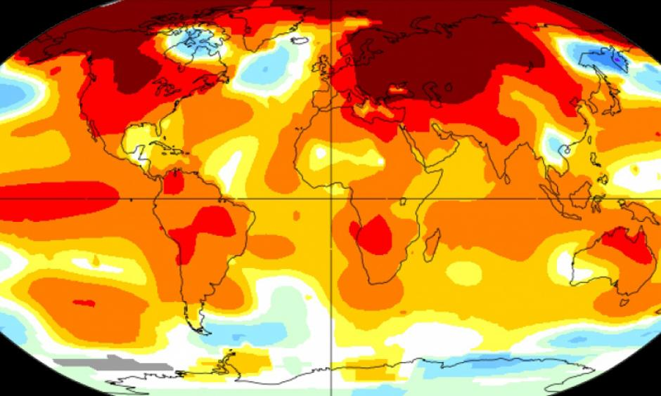 Global temperatures for February 2016. Image: NASA