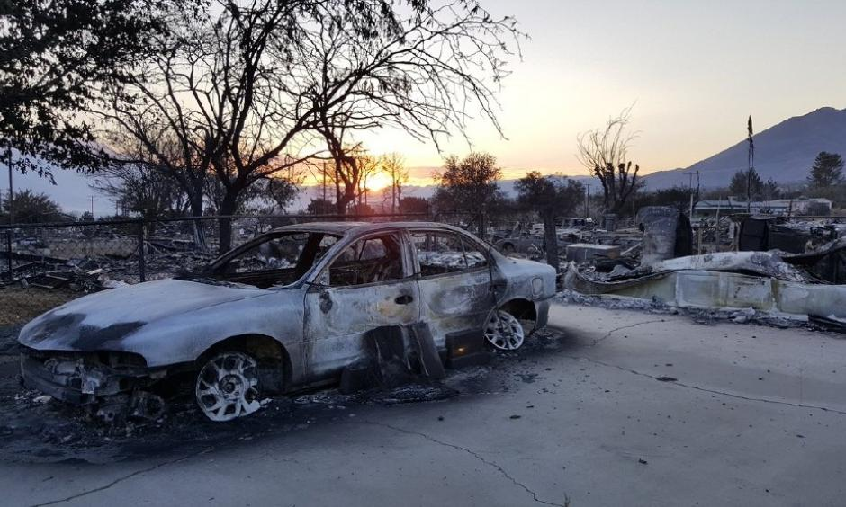 Destruction from the Erskine Fire is seen Wednesday morning, June 29, 2016, in the Kern River Valley. The fire erupted June 23, destroying hundreds of homes and claiming two lives. Photo: John Raguindin, KBAK, KBFX