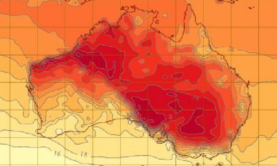 Much of Australia is sweltering through the hottest start to Autumn in decade. Picture: BOM
