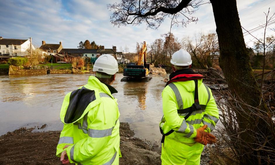 Pooley bridge, which dated back to 1764, over the river Eamont at the northern end of Ullswater, was completely destroyed in the flooding. Photo: Christopher Thomond, The Guardian