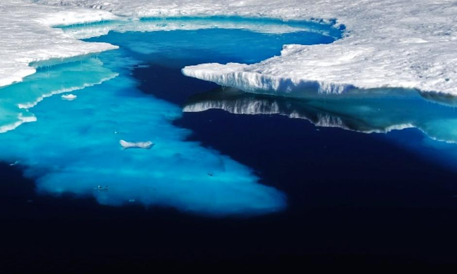 Summer sea ice melts in eastern Greenland. Photo: Flickr