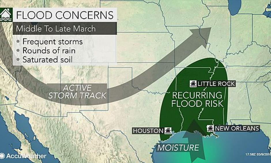 Flood risk. Image: AccuWeather