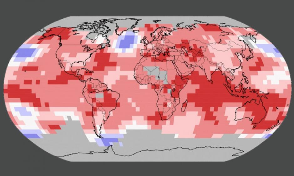 How global temperatures have differed from average so far this year. Image: NOAA