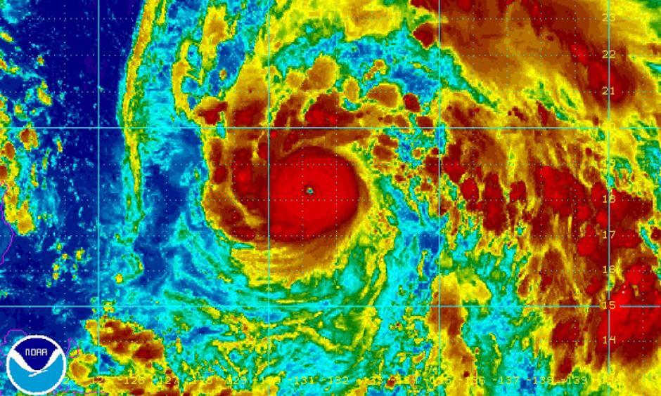 Satellite image of Typhoon Nepartak. Image: NOAA